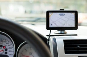 Philadelphia SEO Services Page Photo showing an image of a GPS device on an automobile dashboard.