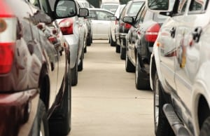 Picture of a long row of cars signaling lots of traffic. This photo appears on the far right-hand side of the Philadelphia SEO company home page.